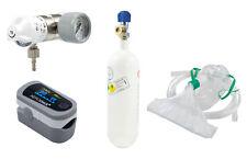SET Druckminderer + Sauerstoffflasche 0,8 l + Pulsoximeter (Arzt Praxis Klinik)