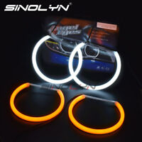 For BMW E46/E39/E38/E36 SMD LED Angel Eyes Switchback Headlight Halo Rings Kit