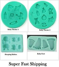 3D Baby shower Soft Silicone Silicon Mold Mould  Fondant Gum Paste Sugarcraft