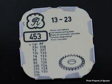 Valjoux Intermediate Setting Wheel #453/Val 23 Chrono/Certina Argonaut, Heuer+