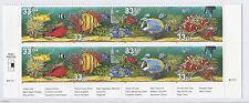 US 3317a - 3320a 1999 Aquarium Fish Overall Tagging Error, Lower Plate Block*