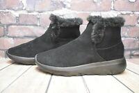 Womens Skechers Black Suede Pull On Low Heel Ankle Boots UK 4 EUR 37