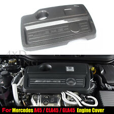 Engine Cover Case For Mercedes Benz Carbon Fiber A CLA GLA A45 GLA45 CLA45 AMG