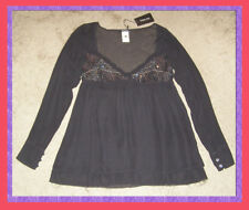 NWT Patrizia Pepe Silk blouse Sequin bust detail sz 8 Empire waist Holiday party