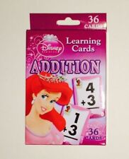 Disney Princess Childs Kids/Toddlers Learning Flash Cards - ADDITION BRAND NEW!