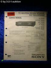 Sony Service Manual TC WA7ESA / WE505 / WE605S / WE705S / WR550Z (#1140)