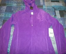 Everlast embossed hoodie fleece jacket PURPLE magic NWT size small value $44