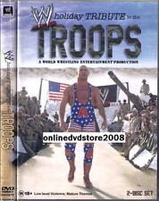 WWE Wrestling U.S TROOPS Holiday TRIBUTE RAW ECW TNA WCW WWF (2 DVD SET) NEW R4