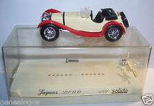 OLD SOLIDO AGE OR JAGUAR SS 100 1938 ROUGE CREME REF 4002 MARS 1981 1/43 IN BOX