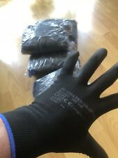 240Pairs Of Brand New Black Nylon Pu Safety Work Gloves Builders,plumbers.sparks