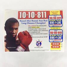 1999 VarTec Telecom 10-10-811 Long Distance Phone Stickers Ad Sugar Ray Leonard