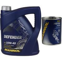 4L MANNOL Motoröl Defender 10W-40 Motorspülung Motor Flush Reiniger