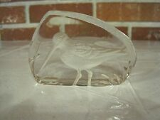 WEDGWOOD CRYSTAL SANDPIPER PAPERWEIGHT MADE IN ENGLAND FOR THE DANBURY MINT