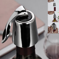 Stainless Steel Reusable Vacuum Sealed Red Wine Bottle Stopper Cap Plug