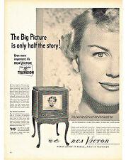 1949 RCA VICTOR TELEVISION KYLE MACDONNELL STAR, KAYSER NYLON NEWS PRINT AD