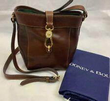 Dooney & Bourke Florentine Sadie Feed Bag Crossbody Handbag Chestnut