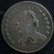 RARE 1801 Silver Draped Bust One Dollar S$1 Coin