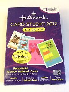 Hallmark Card Studio 2012 Deluxe XP Vista 7 DVD Rom 18,000 Images 12,000 cards