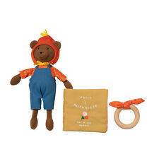Manhattan Toy Petit Botaniste Bear Doll, Soft Book, and Wooden Teether