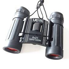 8x21 prismáticos de calidad pequeño bolsillo de viaje compacto ligero plegable recubierto