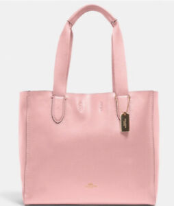 NWT Coach 58660 Derby Tote Leather Bubblegum Pink Bag MSRP $298