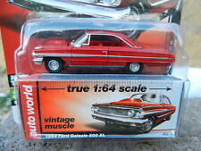 2016 AUTO WORLD 1:64 *PREMIUM 5C* Red 1964 Ford Galaxie 500 XL *NIP!*