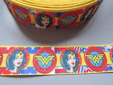 Wonder Woman GROS Grain Nastro 2.5cm x 1 metro cucito/artigianato/Torta