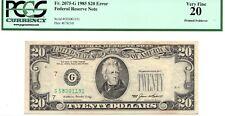 ➡ 1985 $20 Error Printed Foldover Error & Missing Seal & Serial FRN FR2075G PCGS