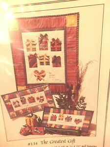 """Quilt Pattern """"The Greatest Gift"""" 1998 Applique"""