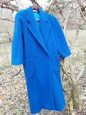 VTG. PERRY ELLIS PORTFOLIO WOMENS, 12,  DOUBLE BREASTED,  BLUE WOOL COAT GREAT!