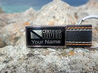 Personalized Scuba Diving Key Chain Laser Engraved Keychain Custom Name