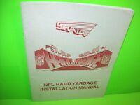 Strata HARD YARDAGE Original Video Arcade Game Service Instruction Repair Manual