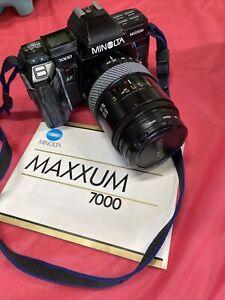 Minolta Maxxum 7000 35mm SLR Film Camera W/ Lens