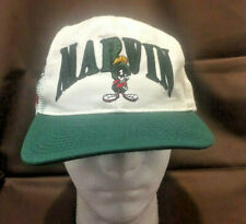 Marvin Martian Space Jam Hat Looney Tunes Cap Snapback White USA Vintage 1991