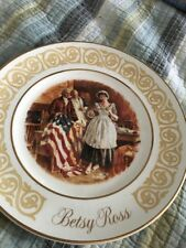 "Vintage Avon Betsy Ross Plate 1973 Wedgwood 9"" D."