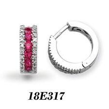 18 Carat Hoop White Gold I1 Fine Diamond Earrings