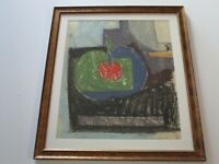 MID CENTURY HANS BURKHARDT DRAWING ORIGINAL ABSTRACT EXPRESSIONISM CUBIST 1950'S