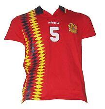 Espagne spain espana retro t-shirt Adidas maillot shirt jersey camiseta taille xs