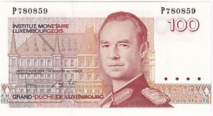 Luxembourg 100 Francs Banknote | Banknotes | KM Coins