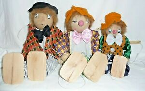 3 Wooden String Puppets