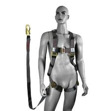 4 X Safety Harness & 2metre Absorbing Lanyard Double Action Snap Hook Height EWP