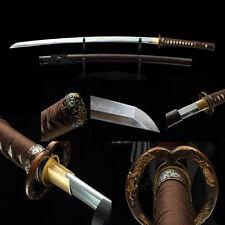 Clay Tempered T10 Steel Blade Japanese Samurai Sword Full Tang Katana Nihonto