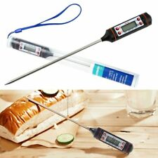 LCD Digital Kitchen Probe Thermometer Food Cooking BBQ Meat Drinks Milk Tester