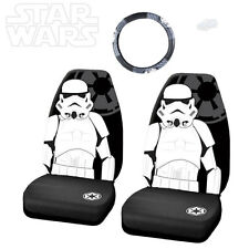 STAR WARS STROMTROOPER 3PC CAR SEAT AND STEERING WHEEL COVERS SET FOR MAZDA