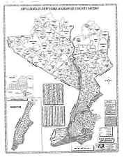 Orange County New York Laminated Zip Code Wall Map