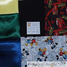 BonEful Fabric COTTON QUILT LOT Scrap BOX Kid Boy Disney Cars Mickey Mouse Dot L