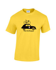 Tour de France 2CV Anniversary  Mens Cotton Cycling T-Shirt