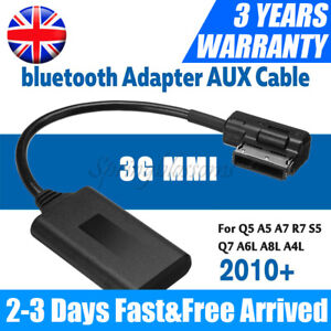Bluetooth Music Interface FOR AUX Audio Cable Adapter For Audi VW AMI MDI MMI UK