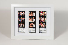 Photo Booth Picture Frame for 3 photo booth strips white frame white mat 8x10