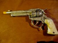 Vintage Gene Autry toy cap gun made by Leslie-Henry-unfired 1950-60 era